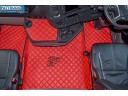 SCANIA R New Generation [ 2017+ ] FOLDING PASSENGER SEAT- ECO LEATHER FLOOR SET-RED