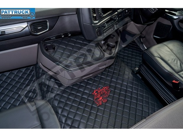 SCANIA R New Generation [ 2017+ ] FOLDING PASSENGER SEAT- ECO LEATHER FLOOR SET-BLACK