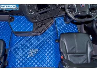 SCANIA R New Generation [ 2017+ ] FOLDING PASSENGER SEAT- ECO LEATHER FLOOR SET-BLUE
