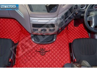 DAF XF 106 AUTOMATIC AFTER 67 PLATE- TRUCK ECO LEATHER FLOOR SET-RED