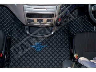 DAF XF 106 AUTOMATIC AFTER 67 PLATE- TRUCK ECO LEATHER FLOOR SET-BLACK [ BLUE LOGO]