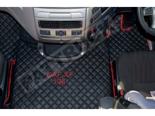 DAF XF 106 AUTOMATIC AFTER 67 PLATE- TRUCK ECO LEATHER FLOOR SET-BLACK