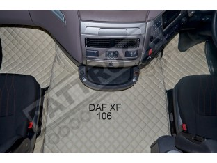 DAF XF 106 AUTOMATIC AFTER 67 PLATE- TRUCK ECO LEATHER FLOOR SET-BEIGE