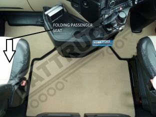VELOUR FLOOR MATS SET-BEIGE WITH BLACK TRIM FIT MERCEDES ACTROS MP4 BIG,GIGA SPACE