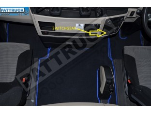 VELOUR FLOOR MATS SET-BLACK WITH BLUE TRIM FIT MAN TGX- AFTER 67 PLATE