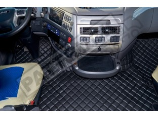 DAF XF 106 AUTOMATIC TILL 67 PLATE - TRUCK ECO LEATHER FLOOR SET -BLACK