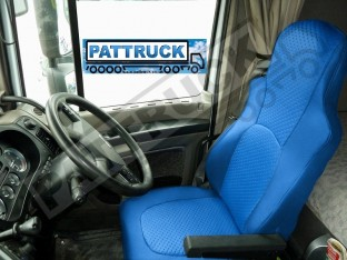 TRUCK ECO LEATHER SEAT COVERS FIT DAF XF 105 / CF 85 PAIR OF BLUE