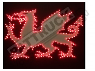 WELSH DRAGON TRUCK LED LOGO LIGHT BOARD - FREE DIMMER
