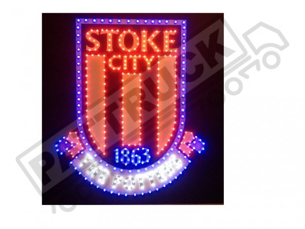 STOKE CITY TRUCK LED LOGO LIGHT BOARD FREE DIMMER
