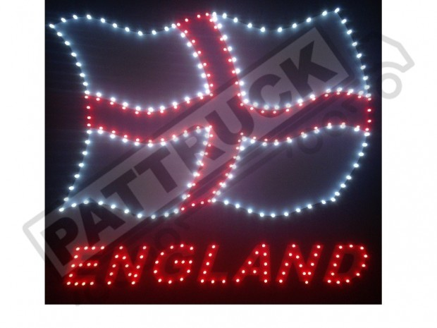 ENGLAND FLAG TRUCK LED LOGO LIGHT BOARD