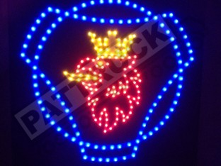 SCANIA TRUCK LED LOGO LIGHT BOARD FREE DIMMER