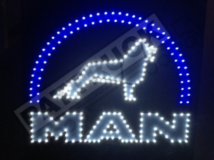 MAN TRUCK LED LOGO LIGHT BOARD