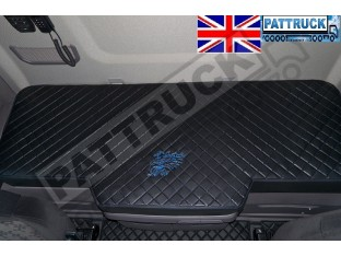 TRUCK BED COVER FIT SCANIA R & S 2017+ [NEW GENERATION] ECO LEATHER BLACK-BLUE STITCHES
