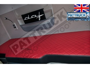 TRUCK ECO LEATHER BED COVER FIT DAF XF 106 RED & BLACK