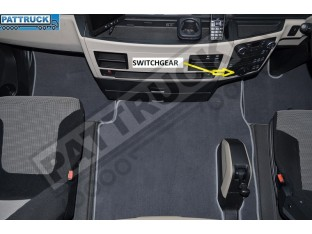 VELOUR FLOOR MATS SET-GREY WITH GREY TRIM FIT MAN TGX- AFTER 67 PLATE