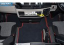 VELOUR FLOOR MATS SET-BLACK WITH RED TRIM FIT MAN TGX- AFTER 67 PLATE