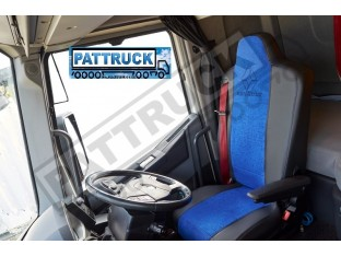 TRUCK ECO LEATHER SEAT COVERS FIT RENAULT T RANGEPAIR OF BLUE AND BEIGE
