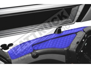 TRUCK ECO LEATHER DASH MAT FIT RENAULT T-RANGE - BLUE