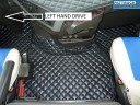 TRUCK ECO LEATHER FLOOR SET- COMPATIBLE WITH VOLVO FH 4 2013+[TWIN AIR SEATS] BLACK - LEFT HAND DRIVE