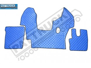 DAF CF EURO-6 MANUAL - TRUCK ECO LEATHER FLOOR MATS SET-BLUE