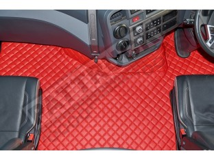TRUCK ECO LEATHER FLOOR SET-BLUE FIT RENAULT T RANGE - FLAT FLOOR