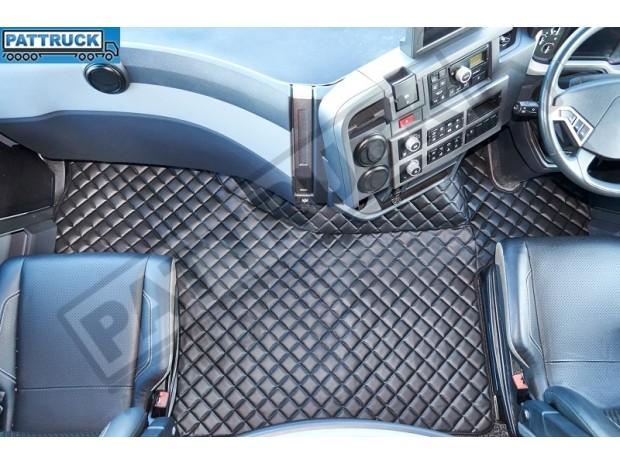 TRUCK ECO LEATHER FLOOR SET-BLACK FIT RENAULT T RANGE - FLAT FLOOR