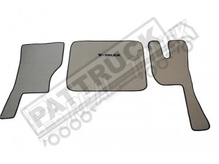 VELOUR FLOOR MATS SET-BEIGE WITH BLACK TRIM COMPATIBLE WITH VOLVO FH3 2009-2013 FOLDING PASSENGER SEAT