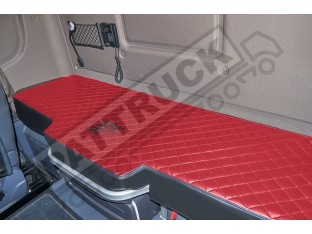 TRUCK BED COVER FIT SCANIA R & S 2017+ [NEW GENERATION] ECO LEATHER RED & BLACK