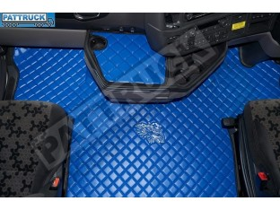 ECO LEATHER FLOOR MAT -BLACK FIT SCANIA S New Generation [ 2017+ ] FLIP PASSENGER SEAT