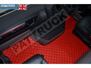 TRUCK ECO LEATHER FLOOR MAT -BLUE FIT SCANIA S New Generation [ 2017+ ] FLIP PASSENGER SEAT