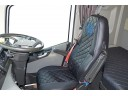 TRUCK SEAT COVERS COMPATIBLE WITH VOLVO FH4 2013+ ( ECO LEATHER) BLACK WITH BLUE STITCHES