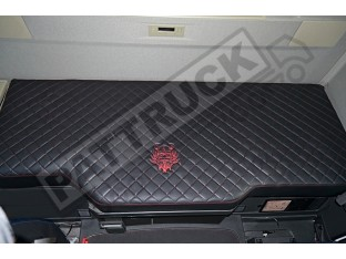 TRUCK ECO LEATHER BED COVER COMPATIBLE WITH VOLVO FH4 2013-2019 BLACK & RED STITCHES