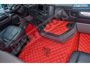 ECO LEATHER FLOOR SET FIT SCANIA R New Generation [ 2017+ ] FOLDING PASSENGER SEAT- LEFT HAND DRIVE