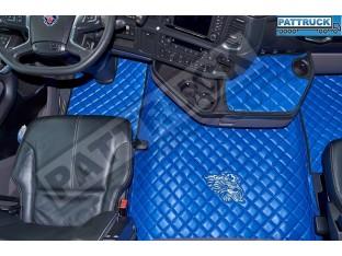 ECO LEATHER FLOOR SET FIT SCANIA R New Generation [ 2017+ ] FOLDING PASSENGER SEAT- LEFT HAND DRIVE