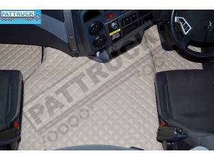 TRUCK ECO LEATHER FLOOR SET-BEIGE FIT RENAULT T RANGE WITH ENGINE HUMP