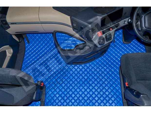 MERCEDES ACTROS MP4 BIG-GIGA SPACE CAB TRUCK ECO LEATHER FLOOR SET-BLUE-WITH LIFTING PASSENGER SEAT