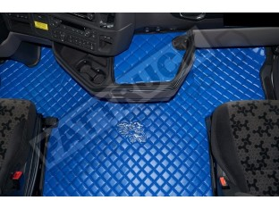 ECO LEATHER FLOOR MAT -BLACK FIT SCANIA S New Generation [ 2017+ ] FLIP PASSENGER SEAT- LEFT HAND DRIVE