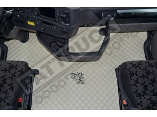 ECO LEATHER FLOOR MAT -BLUE FIT SCANIA S New Generation [ 2017+ ] SWIVEL/AIR PASSENGER SEAT- LEFT HAND DRIVE