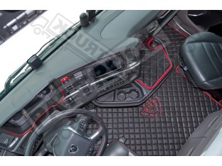 ECO LEATHER FLOOR MAT -BLACK FIT SCANIA S New Generation [ 2017+ ] SWIVEL/AIR PASSENGER SEAT- LEFT HAND DRIVE