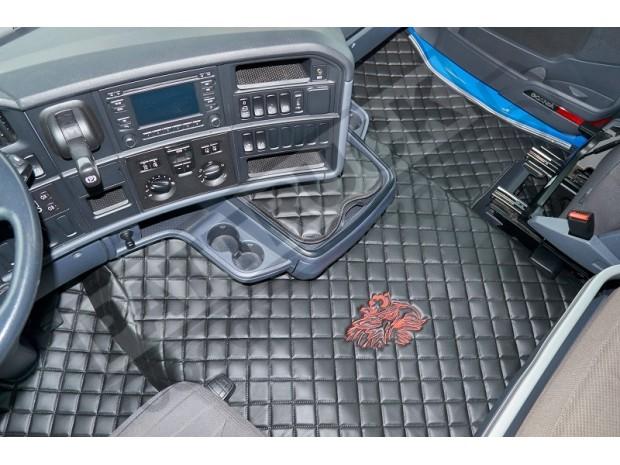 TRUCK ECO LEATHER FLOOR SET-BLACK- FIT SCANIA R STREAMLINE 2013-17 LEFT HAND DRIVE