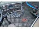 TRUCK ECO LEATHER FLOOR SET-BLACK/RED - FIT SCANIA R STREAMLINE 2013-17 FOLDING PASSENGER SEAT- LEFT HAND DRIVE