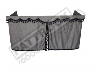 TRUCK SIDE CURTAINS - GREY AND BLACK TASSELS FIT MERCEDES,MAN,DAF,VOLVO,SCANIA,IVECO,RENAULT