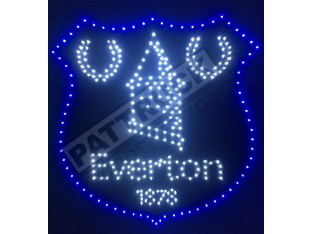 EVERTON FC TRUCK LED LOGO SIGN LIGHT BOARD 24V FREE DIMMER 50cm/50cm