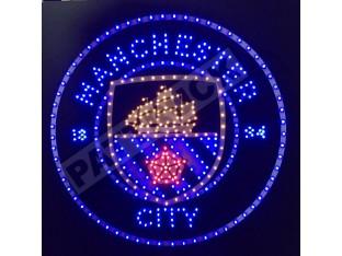 MANCHESTER CITY TRUCK LED LOGO LIGHT BOARD FREE DIMMER
