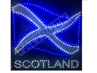 SCOTLAND FLAG TRUCK LED LOGO LIGHT BOARD FREE DIMMER