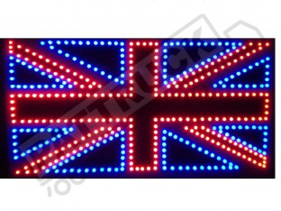 BRITISH FLAG UNION TRUCK LED LOGO LIGHT BOARD - FREE DIMMER