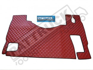 MERCEDES MP2 MP3 TRUCK ECO LEATHER FLOOR SET-RED-WITH LIFTING PASSENGER SEAT