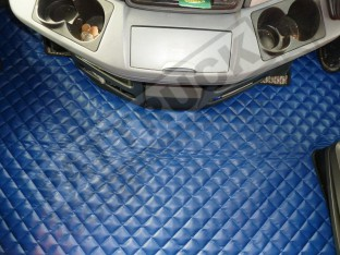MERCEDES MP2/3 TRUCK ECO LEATHER FLOOR SET-BLUE-WITH LIFTING PASSENGER SEAT