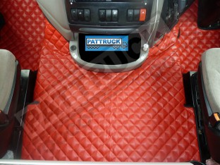 DAF XF 105 AUTOMATIC 2007-2011 TRUCK ECO LEATHER FLOOR SET-RED