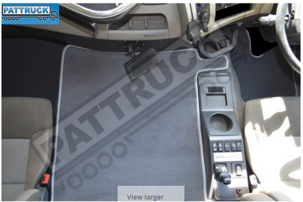 Velour floor mats for lorry